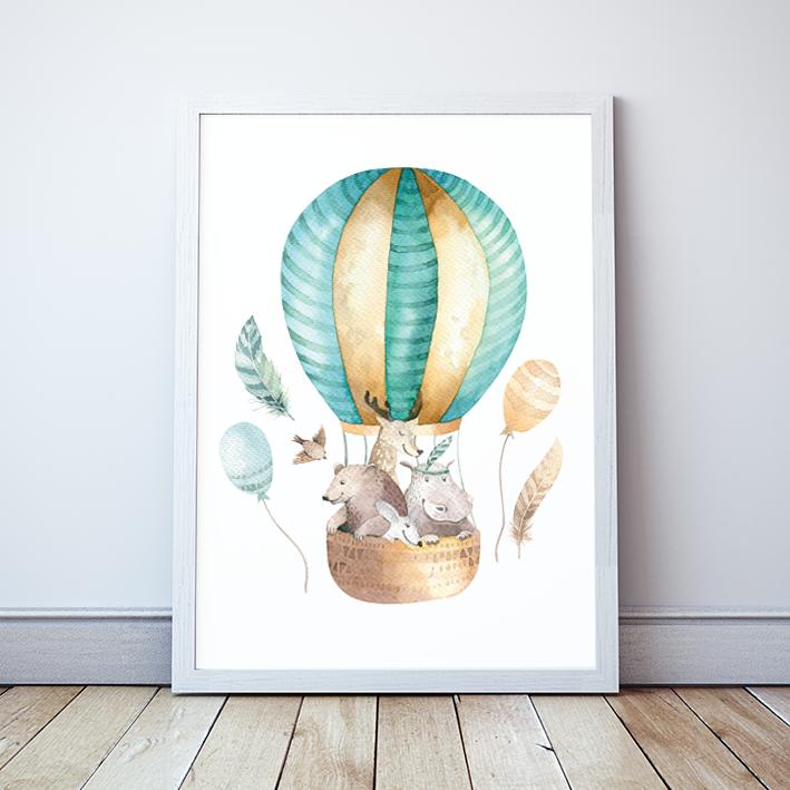 Plakat Balon ze zwierzakami