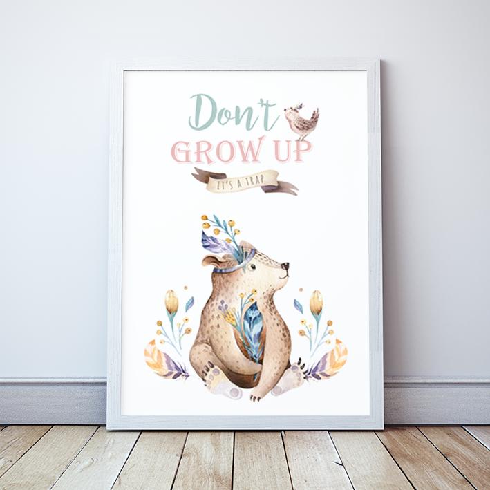 Plakat Miś Don't Grow Up